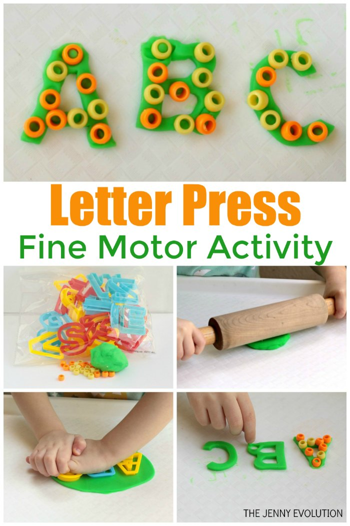 Beaded Playdough Fine Motor Letter Activity for Kids | The Jenny Evolution