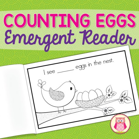 Free Emergent Reader: Counting Eggs