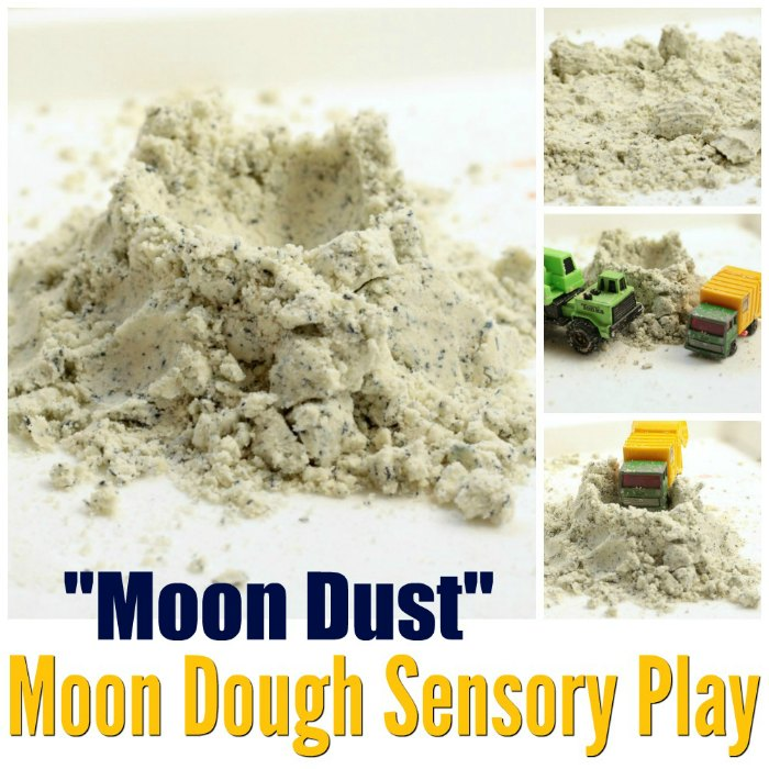 Moon Dough Sensory Play for Toddlers Sensory bin