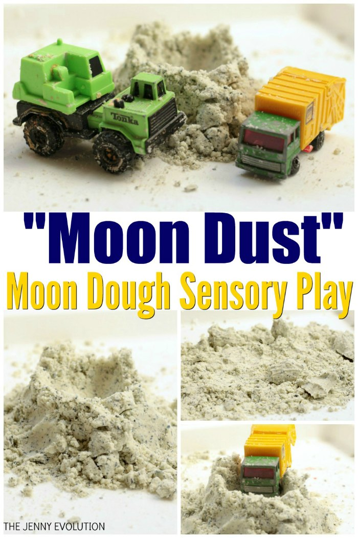 "Moon Dough Recipe - ""Moon Dust"" Sensory Play 