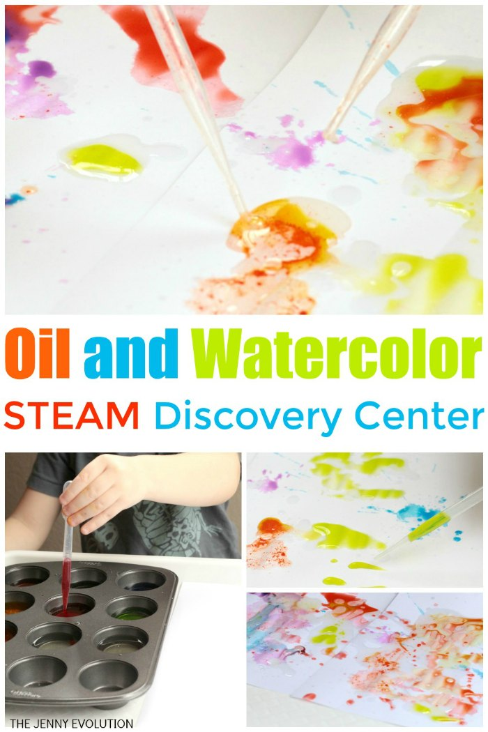 Oil and Watercolor STEAM Discovery Center | Mommy Evolution