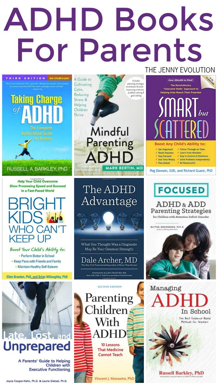 ADHD Books for Parents! Help your child of all ages with managing their ADHD | The Jenny Evolution