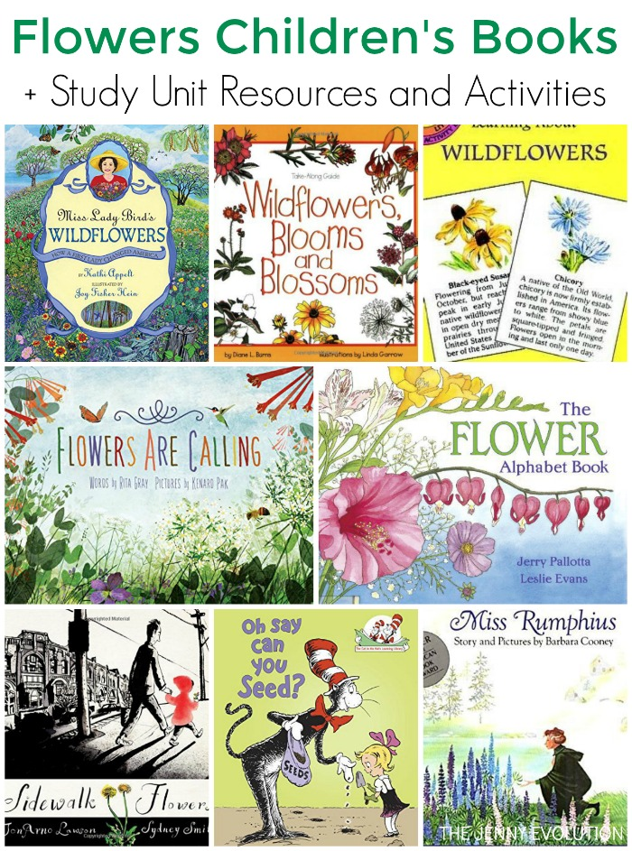 Inspiring Children's Books about Flowers + Study Unit Resources and Activities | The Jenny Evolution