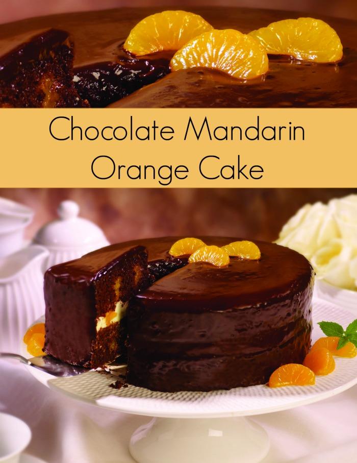 Chocolate Orange Cake Recipe with Mandarin Oranges