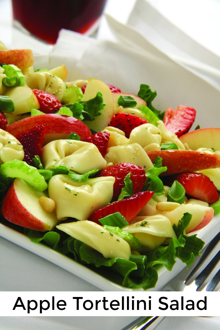 Apple Tortellini Salad Recipe - Perfect appetizer for your next summer BBQ | The Jenny Evolution