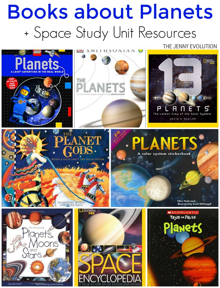 Children's Planet Books + Space Study Unit Resources for Homeschool and Classroom | The Jenny Evolution