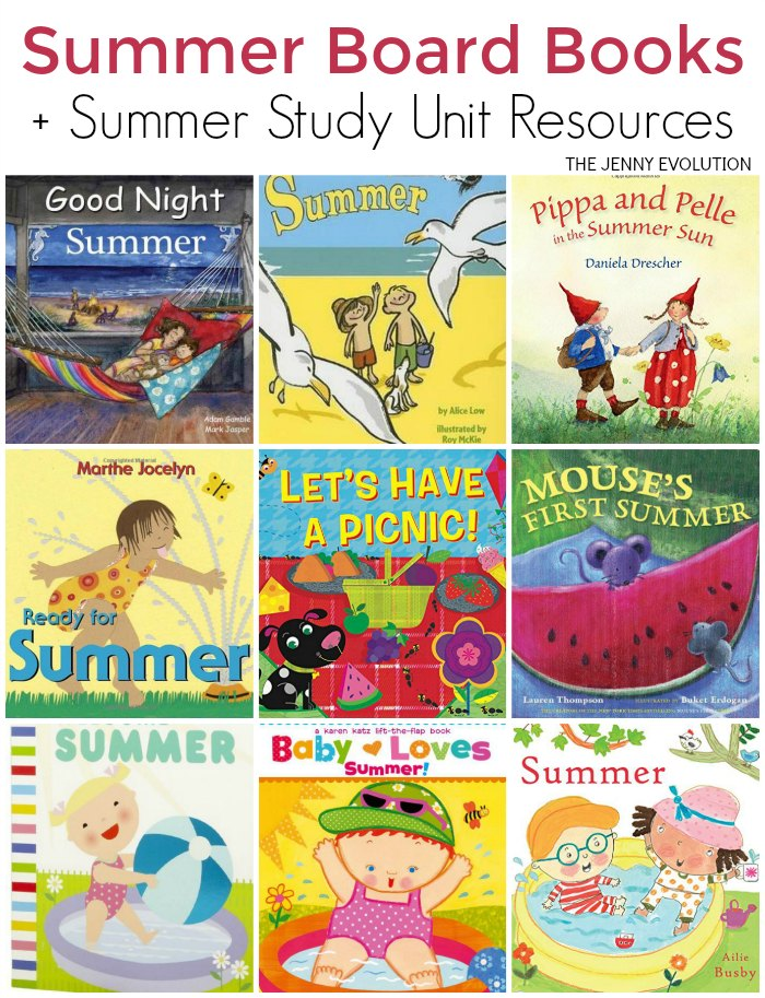 Childrens Books about Summer - Board Books Editions + Summer Study Unit) | The Jenny Evolution