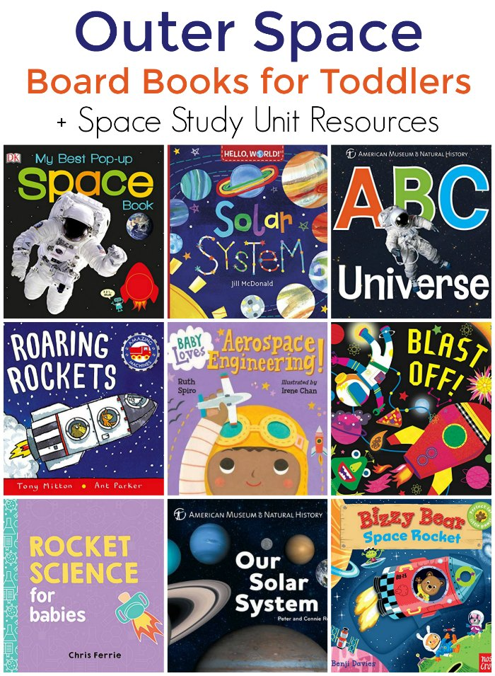 Space Books for Toddlers (Board Book Edition + Space Study Unit) | Mommy Evolution