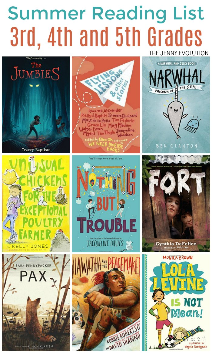 3rd Grade Grade Summer Reading List - Perfect for 3rd, 4th and 5th Grades! | The Jenny Evolution