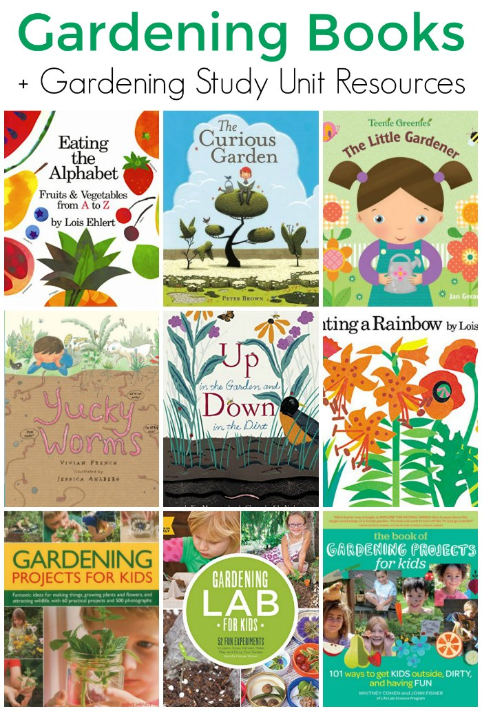 Picture Gardening Books for Kids + Gardening Study Unit Resources for Classroom and Homeschool | The Jenny Evolution