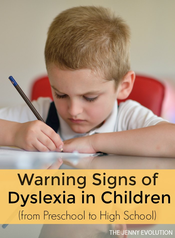 What are the Signs of Dyslexia in Children - from Preschool to High School | The Jenny Evolution