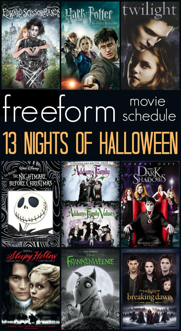 13 Nights of Halloween Movies on Freeform - The schedule is finally here!!!