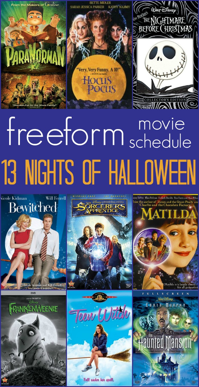 13 Nights of Halloween on freeform! (Previously known as ABC Family)