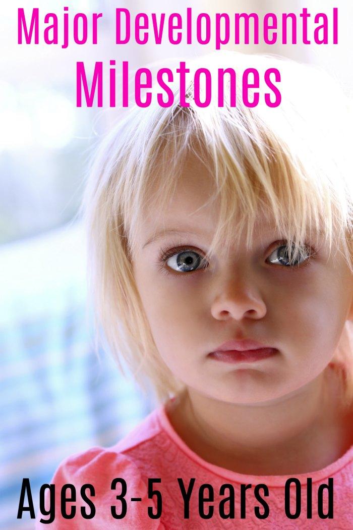 Major Developmental Milestones for Children Aged 3-5 | Mommy Evolution