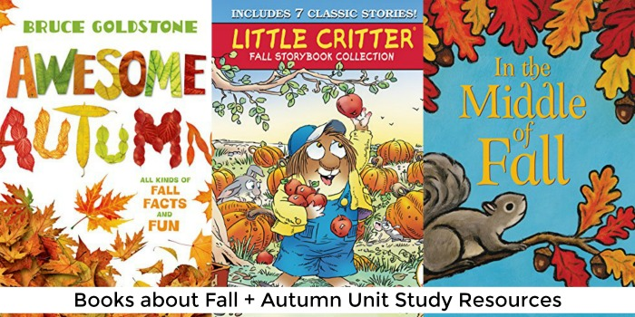 books about fall + autumn unit study resources