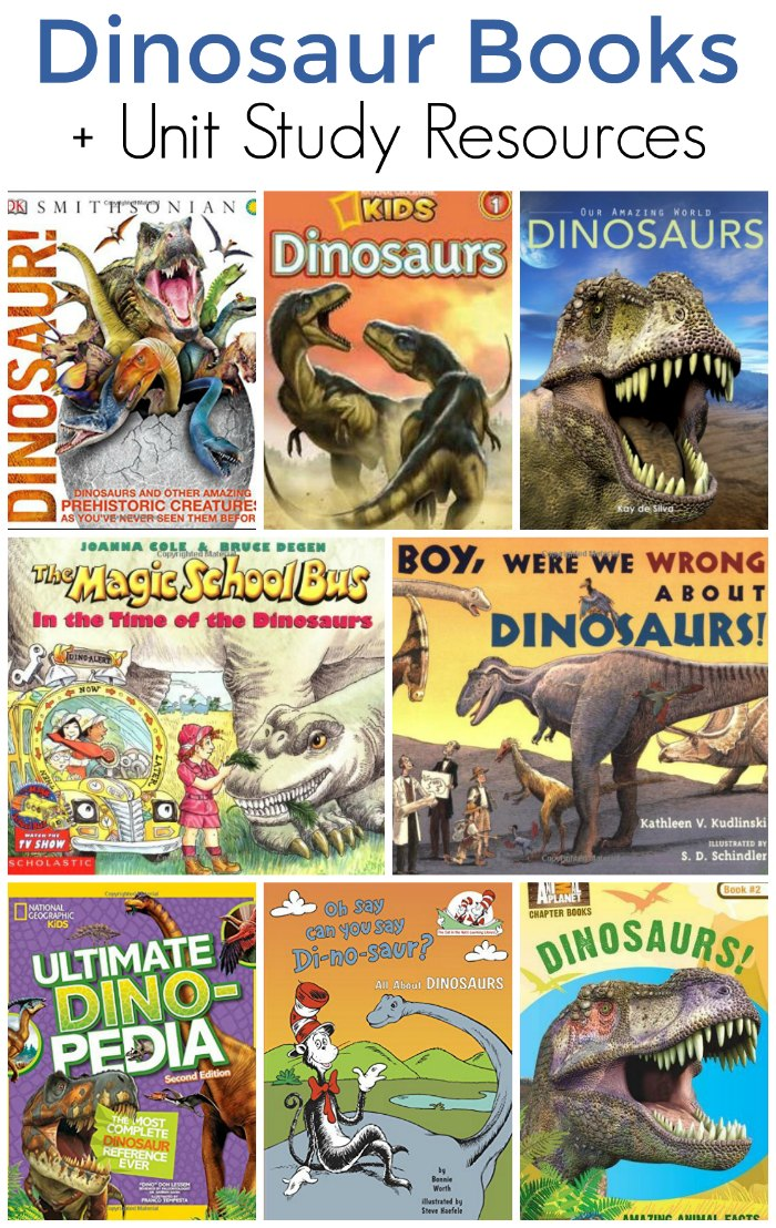 Educational Dinosaur Books Plus Unit Study Resources