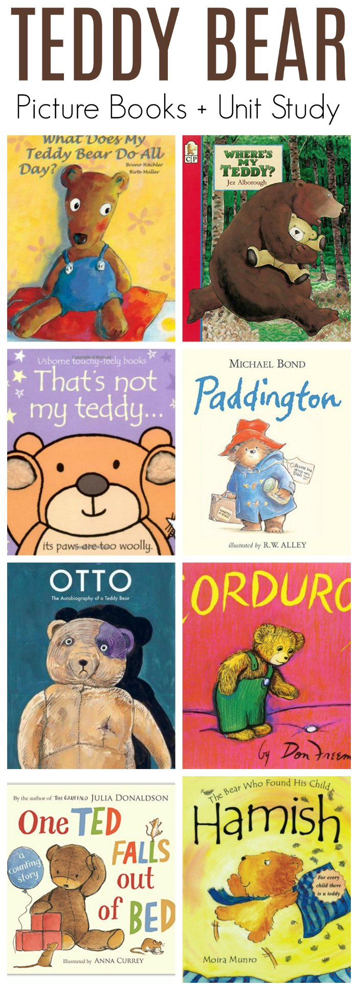 Teddy Bear Books - Picture Books Reading List (Teddy Bear Unit Study)