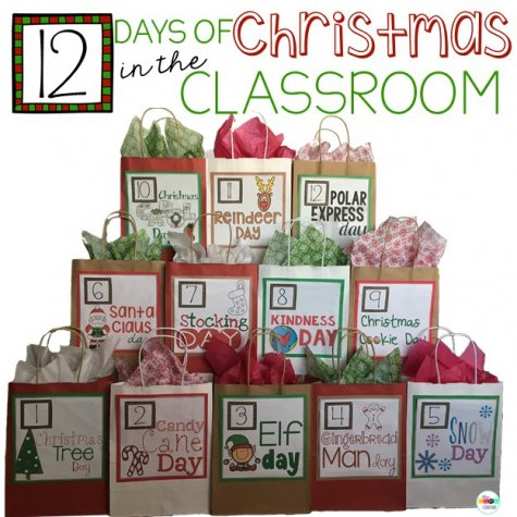 12 days of christmas lesson plans in the classroom