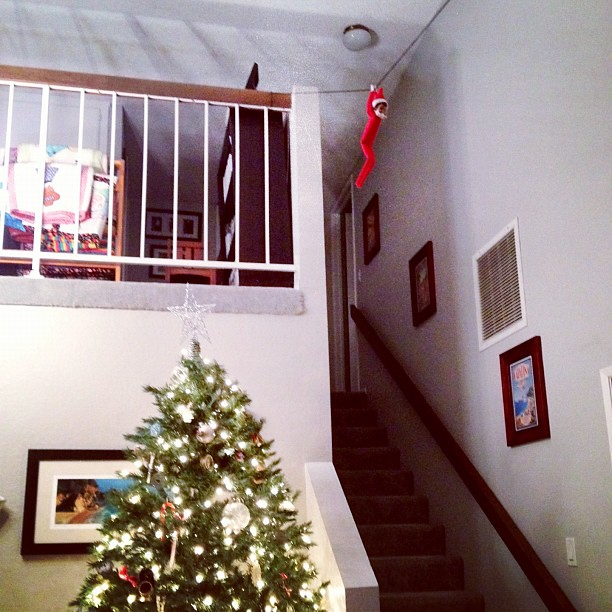 Ziplining /Zipline Elf on the Shelf