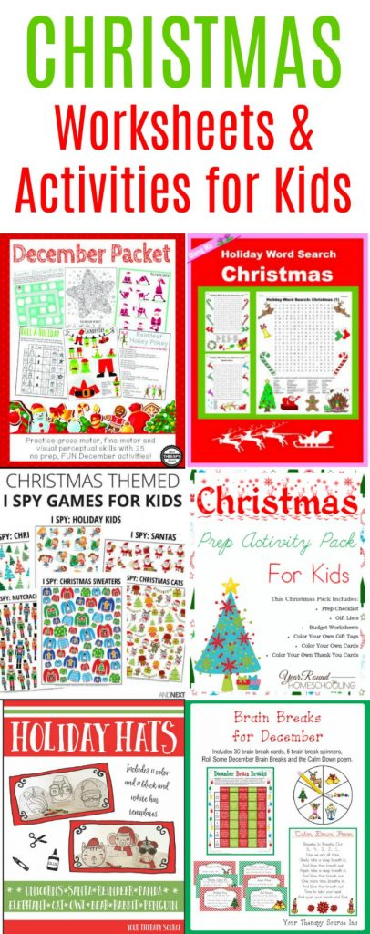 No-Prep Christmas Worksheets and Activities