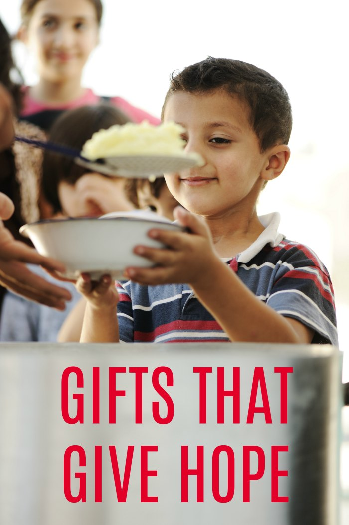 GIFTS THAT GIVE HOPE! Spread hope to this who need it most this holiday season.