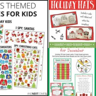 No-Prep Christmas Worksheets and Activities for Kids