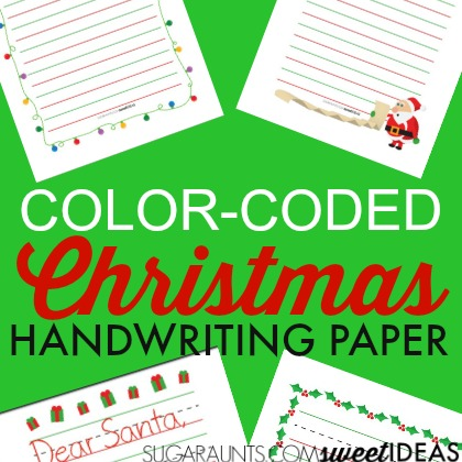 Color Coded Christmas Paper