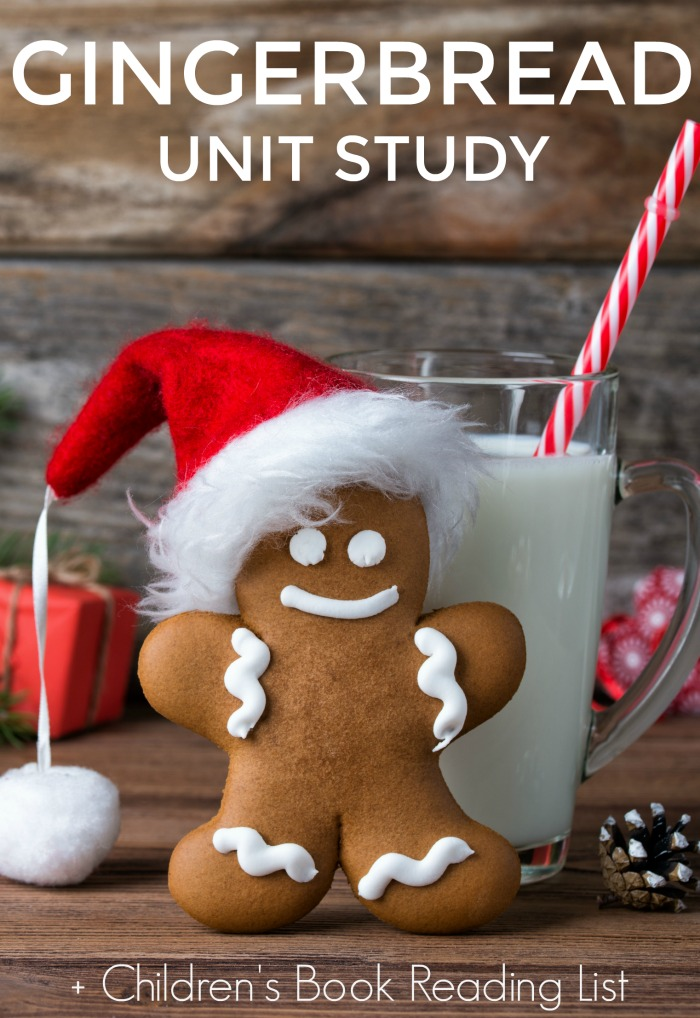 Gingerbread Unit Study - Perfect for Christmas and the winter holidays! Great resource ideas for in-classroom and homeschool. Plus gingerbread children's book reading list