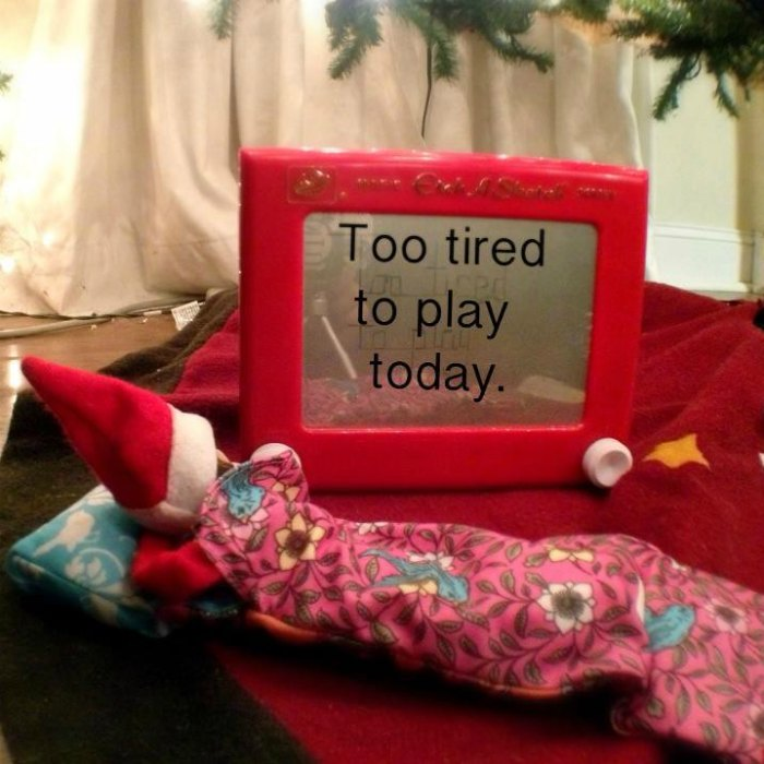 Exhausted Elf - Too Tired to Play!