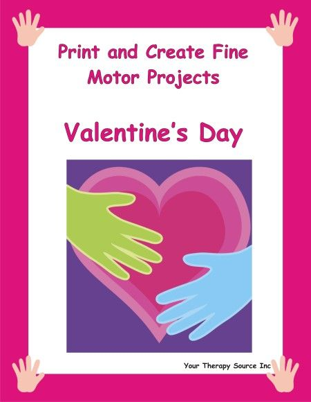 Valentine's Day Print and Create Fine Motor Projects