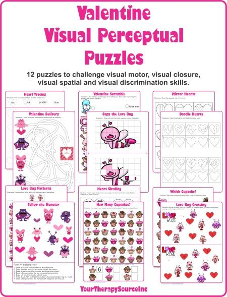 valentine visual perceptual / perception puzzles