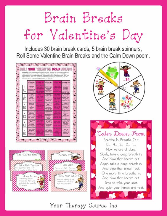 Brain Breaks for Valentine's Day: