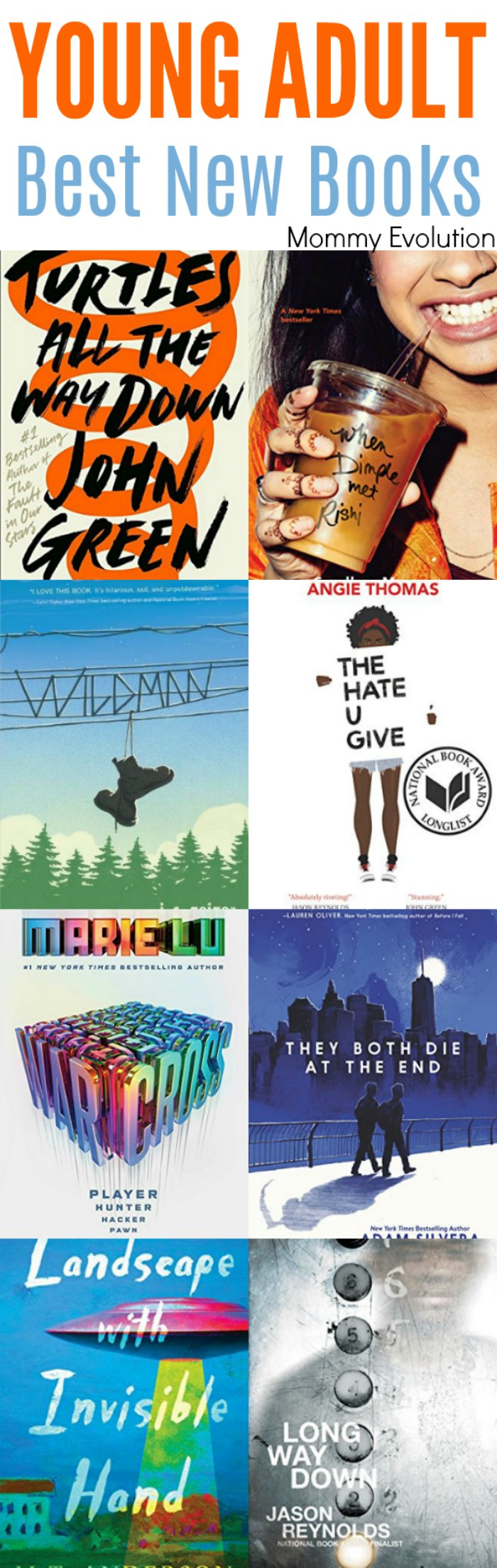 Best New Young Adult Books of the Year. Perfect for teens in high school | Mommy Evolution