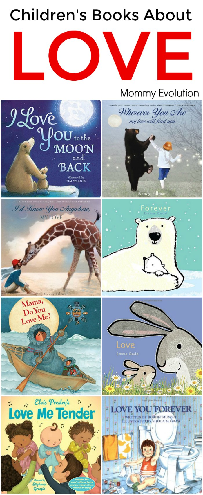 Childrens Books About Love - Perfect for any parent to share how much they love their child! | Mommy Evolution #kidlit #reading #childrensbooks #picturebooks #boardbooks