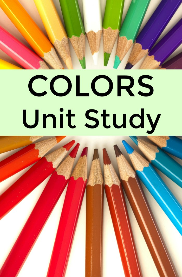 Colors Unit Study Lesson Plan Ideas and Preschool Resources | Mommy Evolution  #preschool #unitstudy