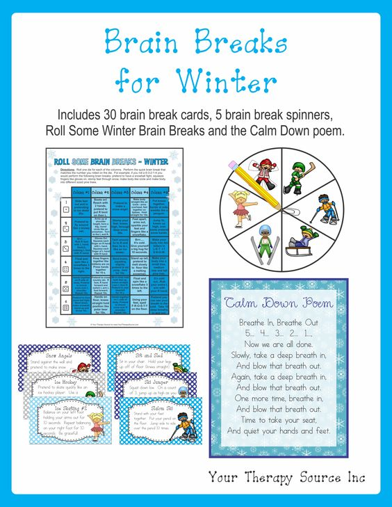 classroom brain breaks for winter