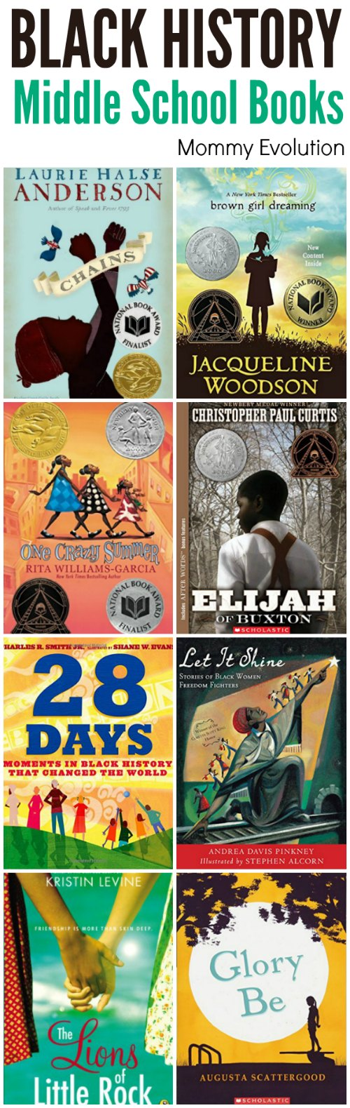Middle School Books for Black History Month | Mommy Evolution #blackhistory #middleschool #reading