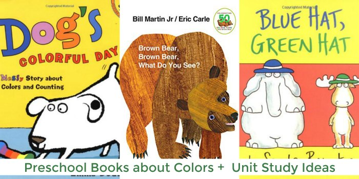 Preschool Books About Colors for toddlers