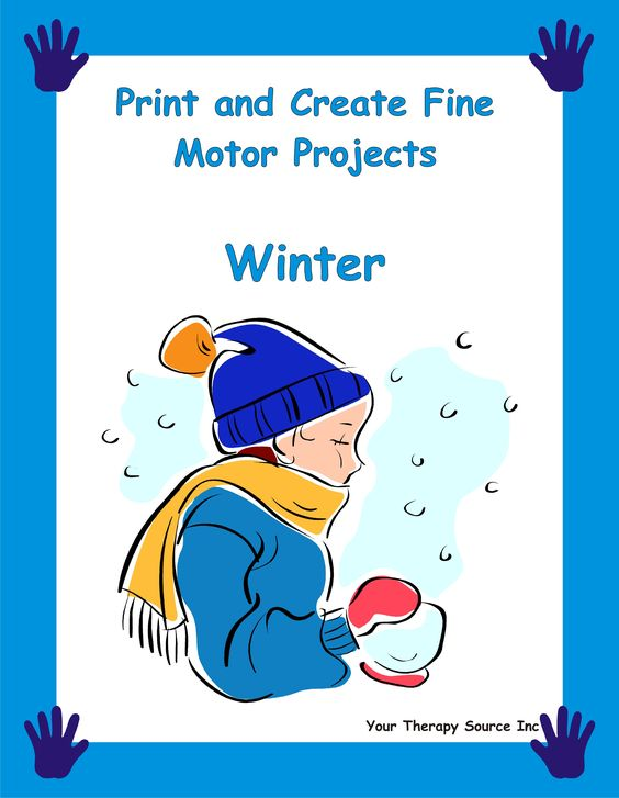 Winter Print and Create Fine Motor Projects