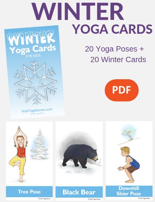 Winter Yoga Cards - Yoga Poses for Kids
