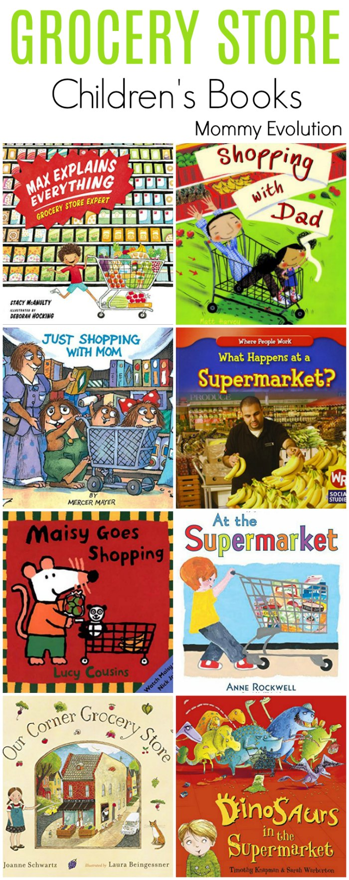 Grocery Store books for Kids - Perfect for learning about the supermarket! | Mommy Evolution
