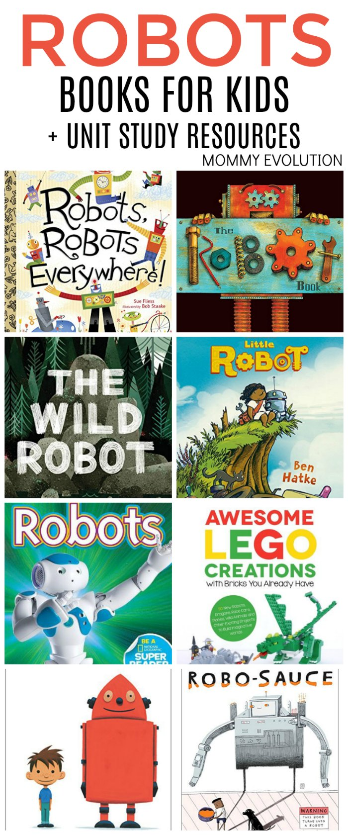 Robot Books for Kids + Robot Unit Study Resources | Mommy Evolution