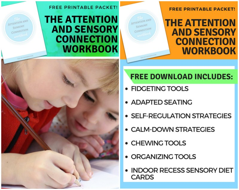 The Attention and Sensory Connection Workbook Free Printable Packet