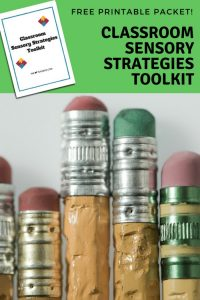 Classroom Sensory Strategy Toolkit Free Printable Packet