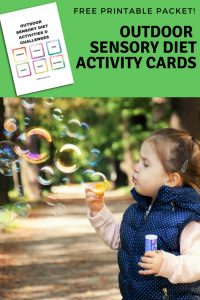 Outdoor Sensory Diet Cards and Sensory Challenge Cards Free Printable Packet