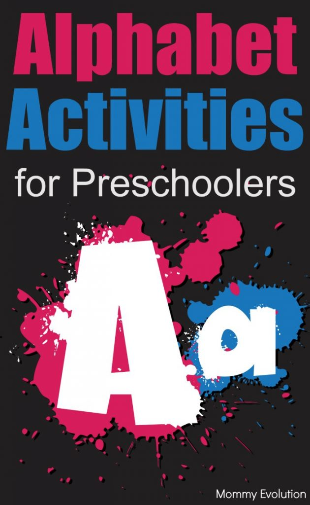 Alphabet Practice: Activities for Learning Letters for Preschoolers | Mommy Evolution