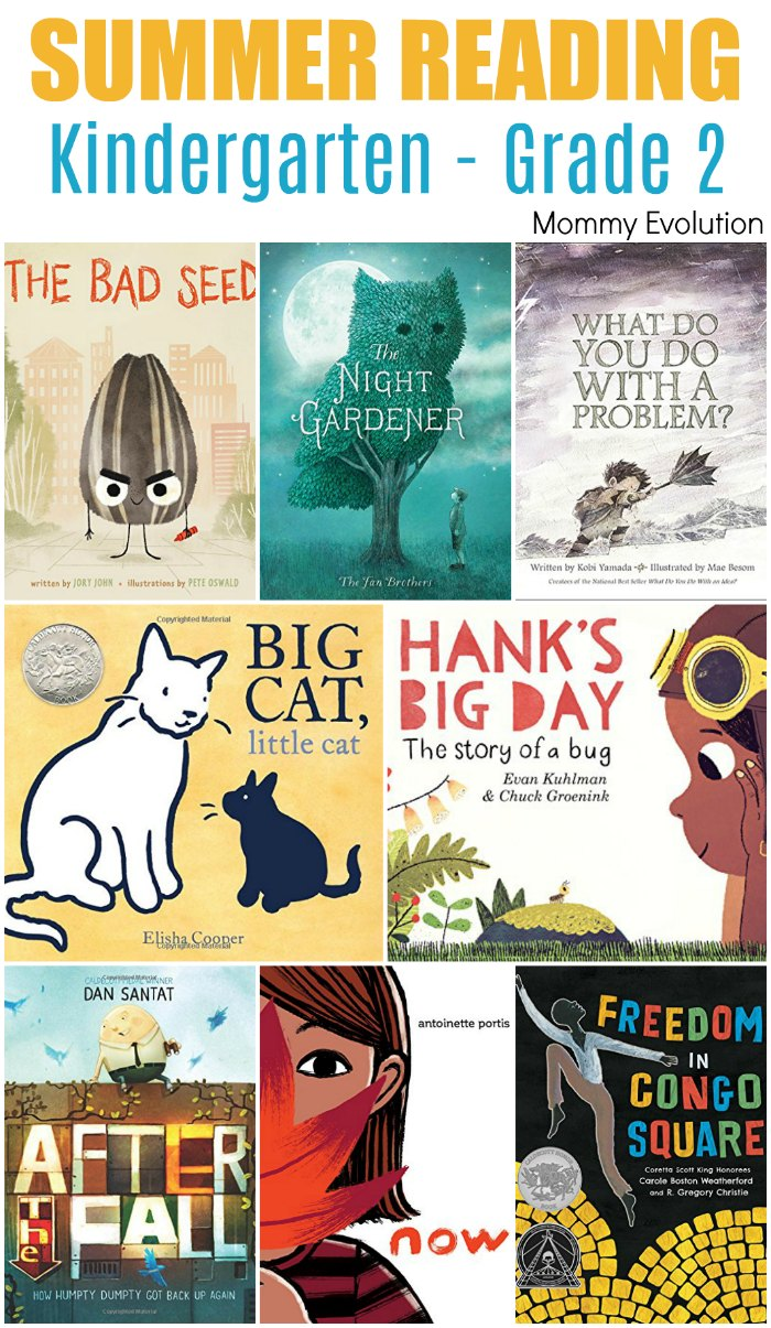 Kids Summer Reading List, Kindergarten - Grade 2. Perfect reading list for reading books with your younger children | Mommy Evolution