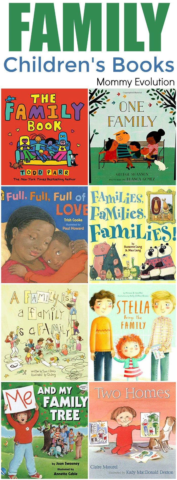 Childrens Books about Family - Diverse families and books for kids | Mommy Evolution