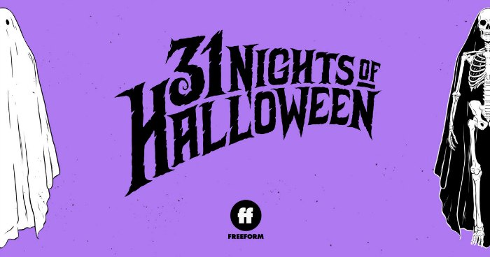 freeform 31 nights of halloween movies on tv formerly abc family 13 nights of halloween