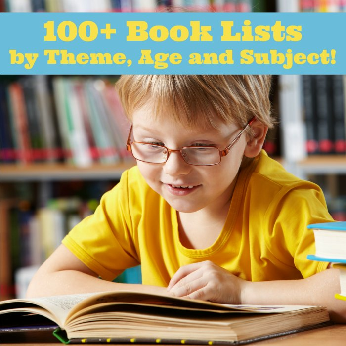 100+ Book Lists by Theme, Age and Subject